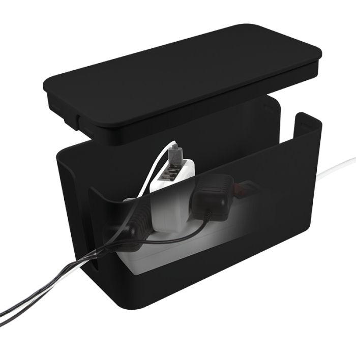 organizator pudełko na kable 235 x 115 x 120mm czarne logilink kab0060